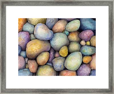 Framed Print featuring the painting Rock Candy by Hailey E Herrera