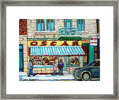 Candy Shop Framed Print by Carole Spandau