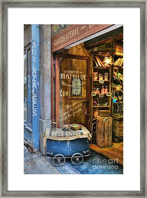 Candy Shop In Old Town Lyon Framed Print by Mel Steinhauer