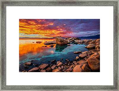 Candy Skies Framed Print by Steve Baranek