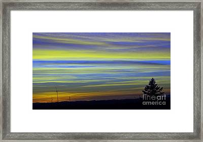 Framed Print featuring the photograph Candy Sky 1 by Victor K