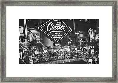 Candy Store- Ponce City Market - Black And White Framed Print