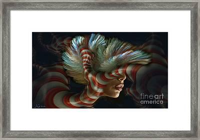 Candy Striper Framed Print