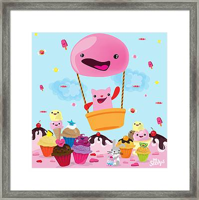 Candy World Framed Print by Seedys World