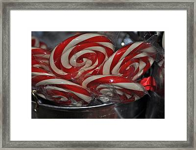 Candycane Lolli Framed Print