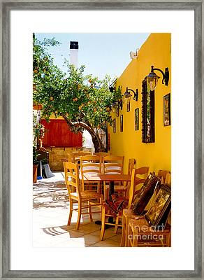 Cane Chairs Framed Print by Andrea Simon