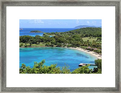 Caneel Bay St. John Framed Print by Fiona Kennard