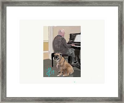 Canine Composition Framed Print