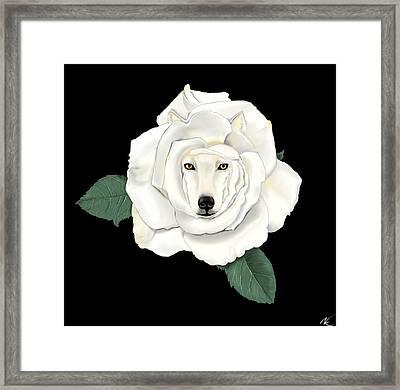 Canis Rosa Framed Print