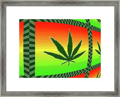 Framed Print featuring the mixed media Cannabis  by Dan Sproul