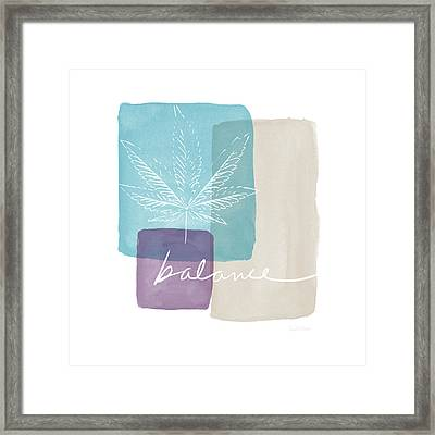 Cannabis Leaf Watercolor 3- Art By Linda Woods Framed Print by Linda Woods