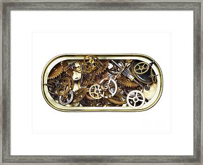 Canned Time Framed Print