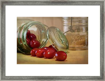 Canned Tomatoes - Kitchen Art Framed Print