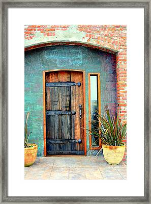 Cannery Door Framed Print