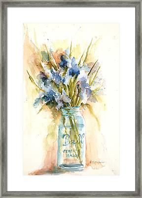 Canning Irises Framed Print