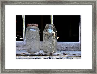 Canning Jars Framed Print