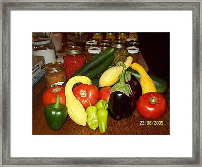 Canning Framed Print by Robin Coaker