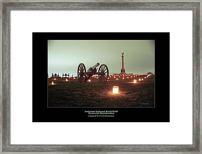 Cannon And Ny Monument 07 Framed Print by Judi Quelland