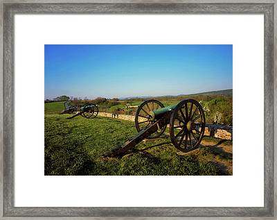 Cannon At Antietam Battleground  Framed Print
