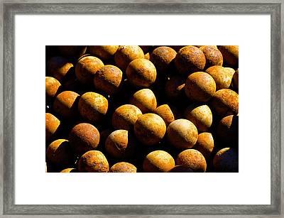 Cannon Balls Framed Print by Richard Henne