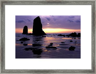 Cannon Beach Framed Print by Eric Foltz