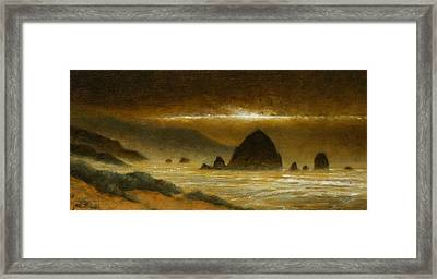 Cannon Beach Evening Framed Print