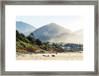 Cannon Beach Oceanfront Vacation Homes Framed Print