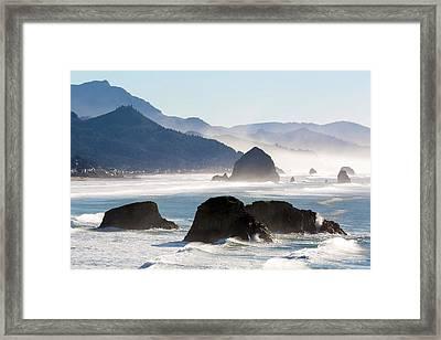Cannon Beach On The Oregon Coast Framed Print