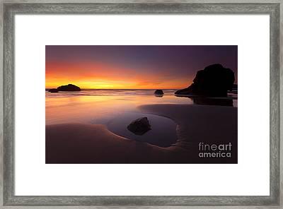 Cannon Beach Sunset Framed Print by Mike  Dawson