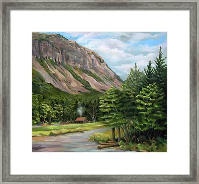 Cannon Cliff New Hampshire Framed Print
