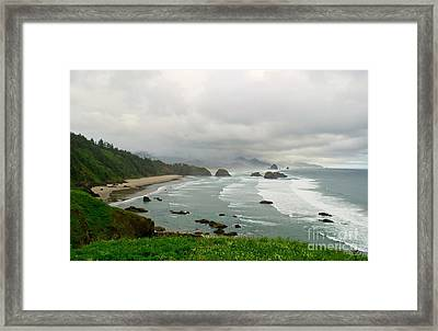 Framed Print featuring the photograph Cannon Coast by Suzette Kallen