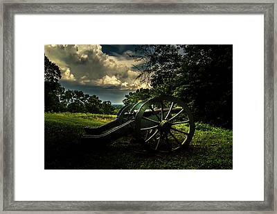 Cannon Encampment Valley Forge Framed Print by Howard Roberts