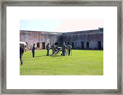 Cannon Excercise Framed Print by Rodger Whitney