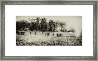 Cannon Fire At Gettysburg  Framed Print by Bill Cannon