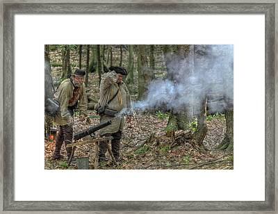 Cannon In The Forest Framed Print