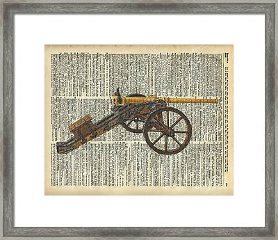 Cannon Framed Print by Jacob Kuch
