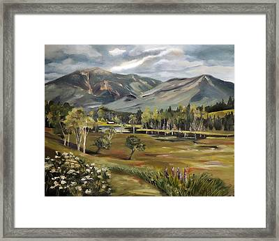 Cannon Mountain From Sugar Hill New Hampshire Framed Print