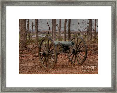 Cannon On Seminary Ridge Framed Print by David Bearden