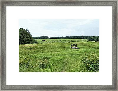 Cannon Overlooking Prison Site Framed Print
