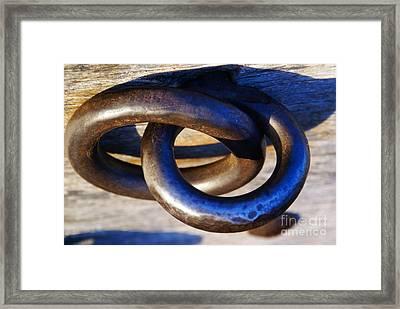 Cannon Rings Framed Print by Linda Shafer