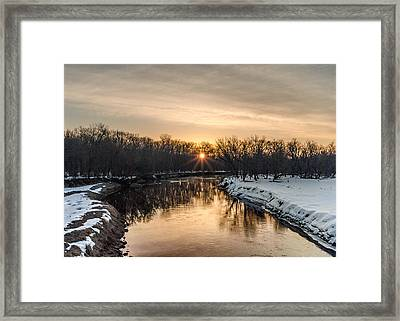 Cannon River Sunrise Framed Print