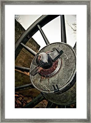 Cannon Wheel Framed Print