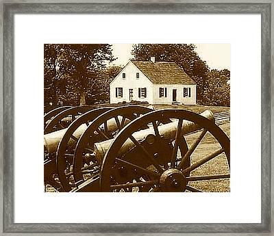 Cannons At Dunker Church Framed Print by Keith Naquin
