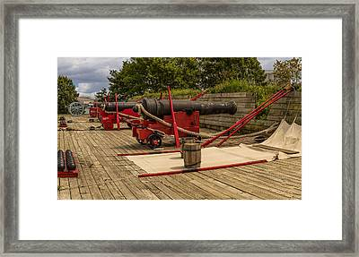Cannons Of Ft Mchenry Framed Print by Capt Gerry Hare