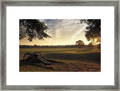 Cannons On The Battlefield Framed Print by Richard Nowitz