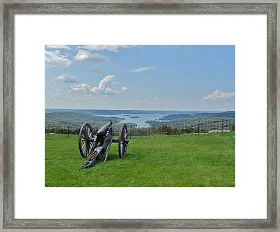Cannons Ready Framed Print by Julie Grace