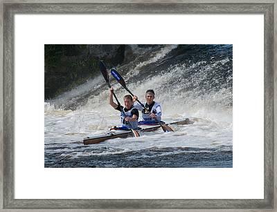 Canoe Action Framed Print by Joe Houghton
