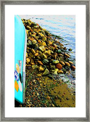 Canoe  And  Shore -  1 Framed Print