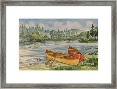 Canoe Camp Framed Print by Paul Brent