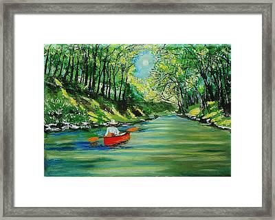 Canoe Cruising Framed Print